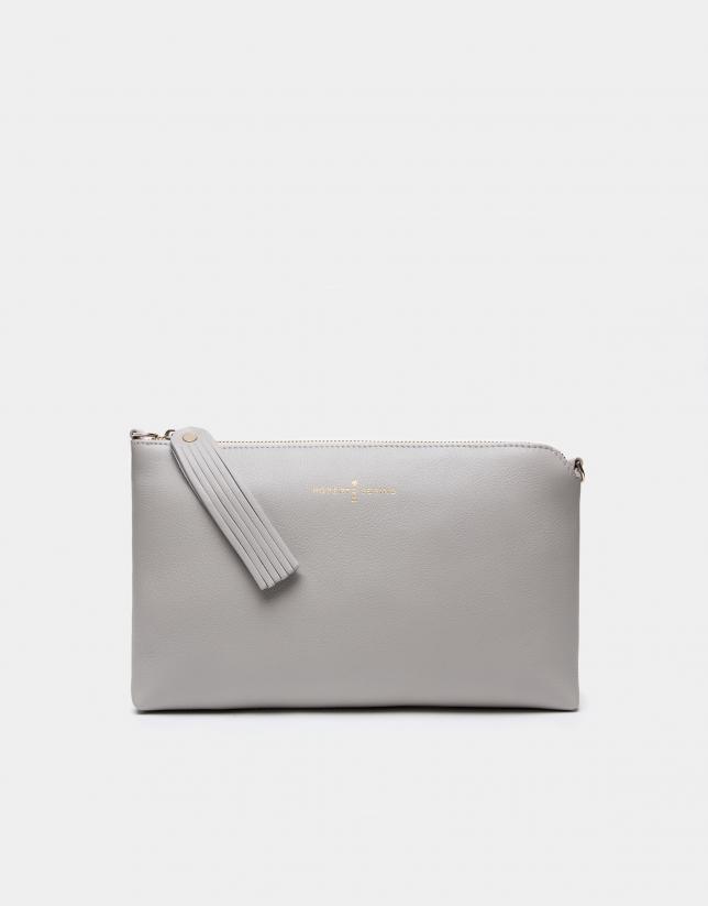 Clutch Lisa gris perlé