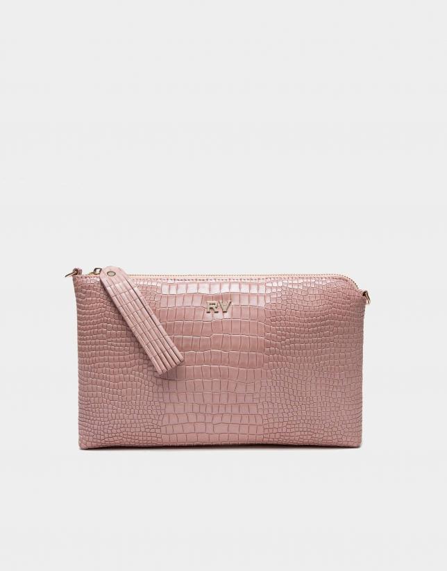 Bolso Clutch Lisa coco rosa