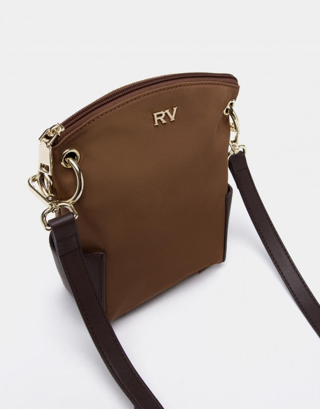 Tan mini Candem leather shoulder bag