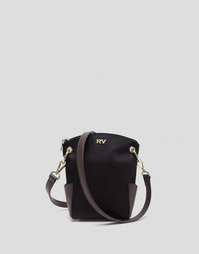 Black mini Candem leather shoulder bag