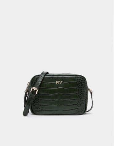 Green alligator Taylor shoulder bag