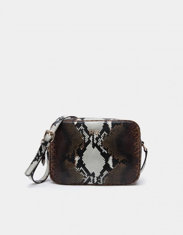 49ff84d9b4 Embossed snakeskin Taylor shoulder bag