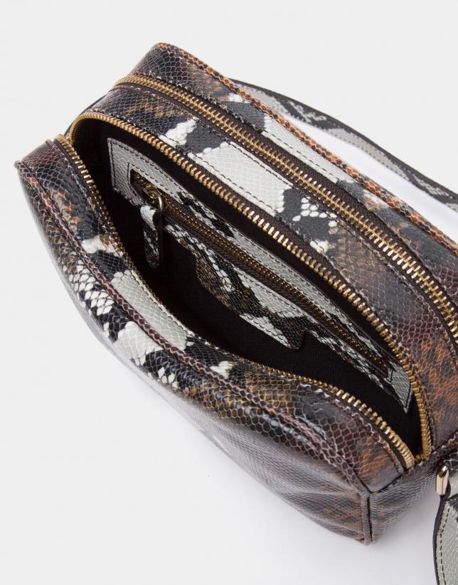 Embossed snakeskin Taylor shoulder bag