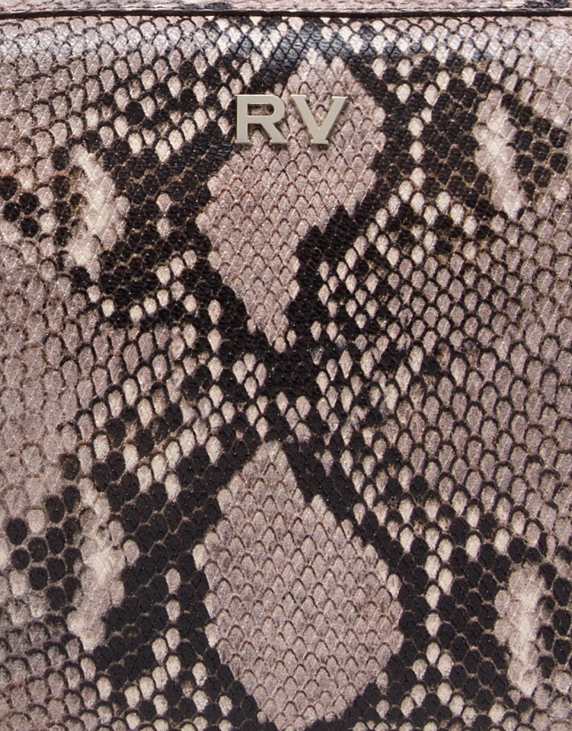 Bolso bandolera Trèsse grabado serpiente