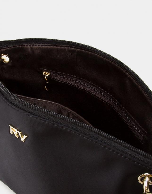 Black Nano Candem leather shoulder bag