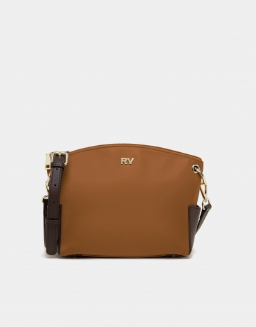 Tan Nano Candem leather shoulder bag