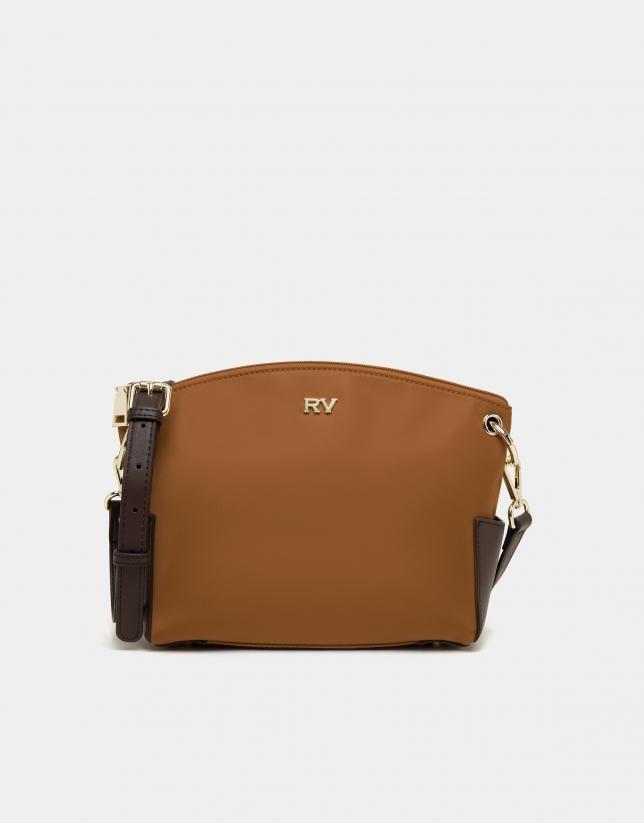 Tan Nano Candem leather shoulder bag