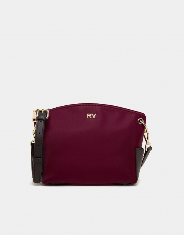 Burgundy Nano Candem leather shoulder bag