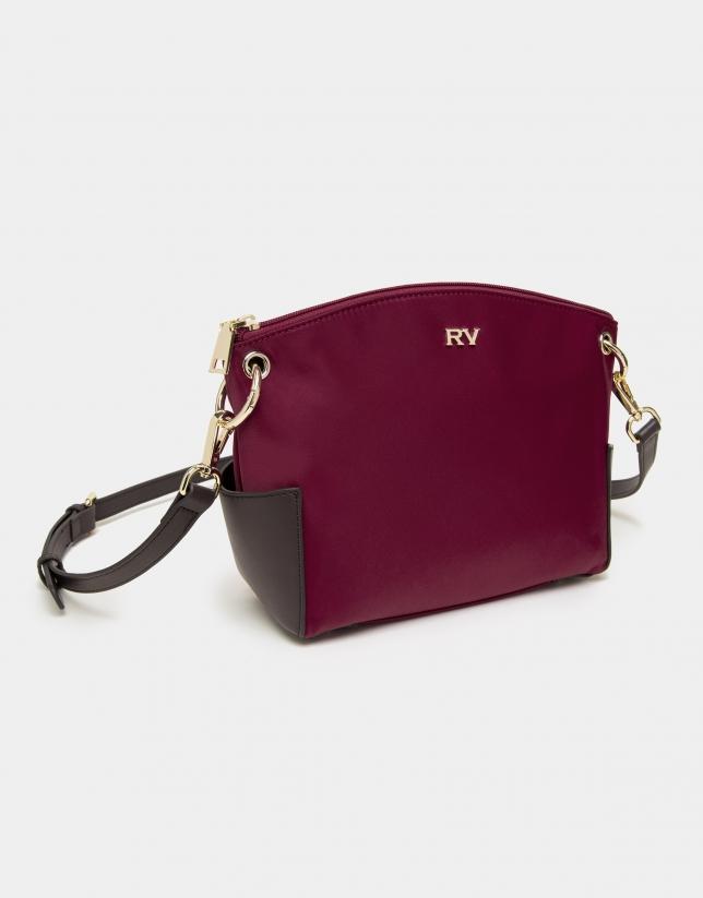 Burgundy Nano Candem leather shoulder bag