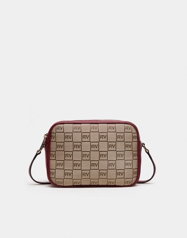 Burgundy canvas Taylor shoulder bag