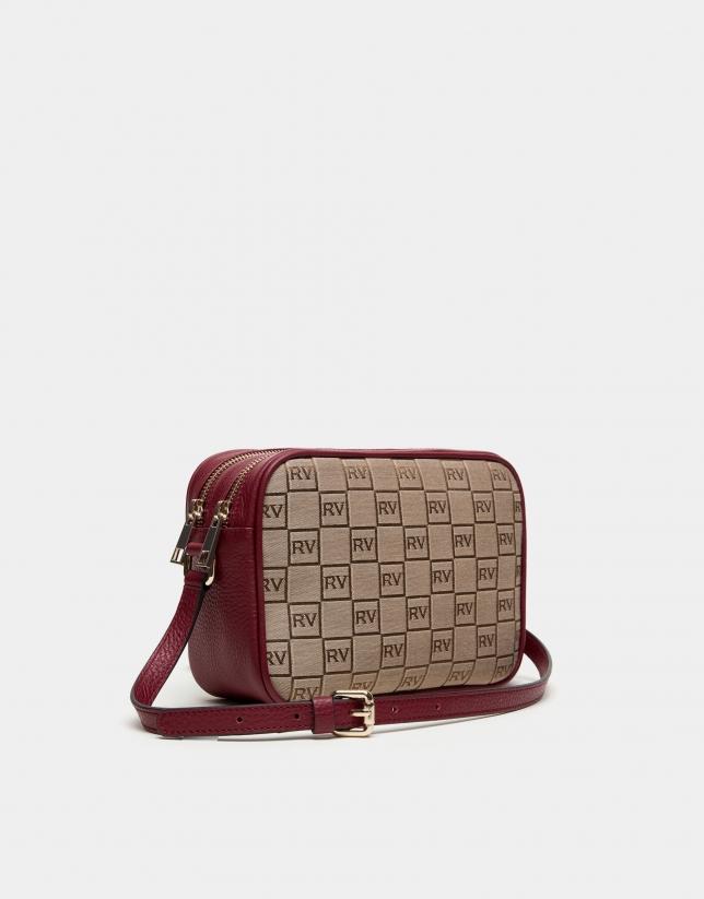 Burgundy canvas Taylor shoulder bag