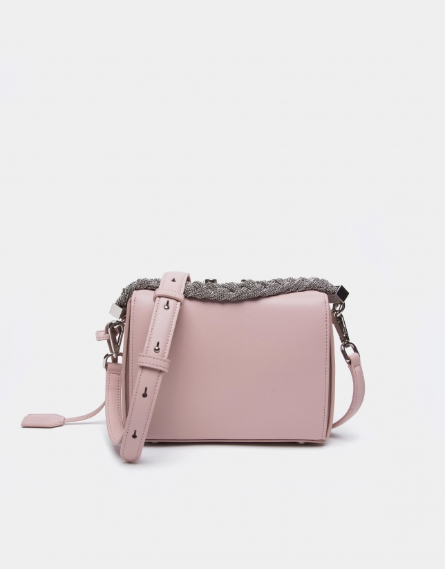 Pink leather Trunk handbag
