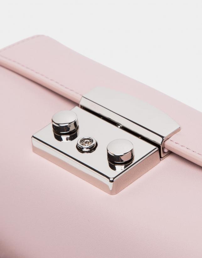 Pink leather Trunk handbag