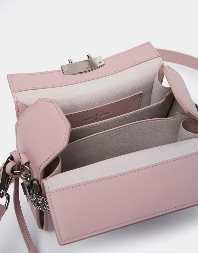 Bolso cofre Trunk piel rosa