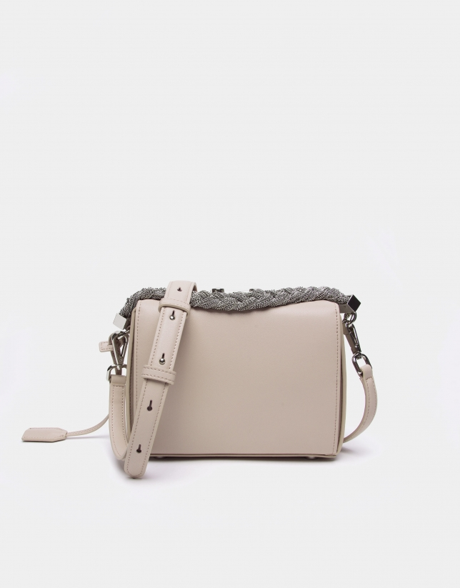 Beige leather Trunk handbag