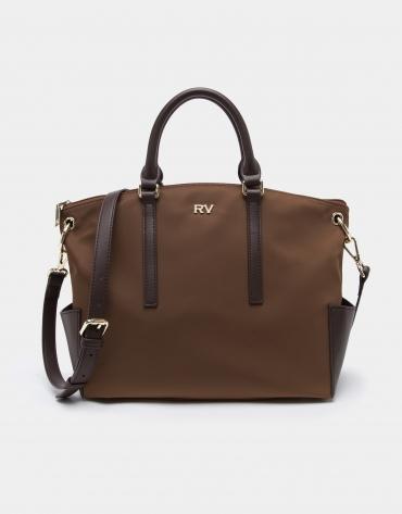Tan midi Candem leather shopping bag