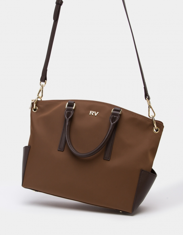 Tan midi Candem leather shopping bag