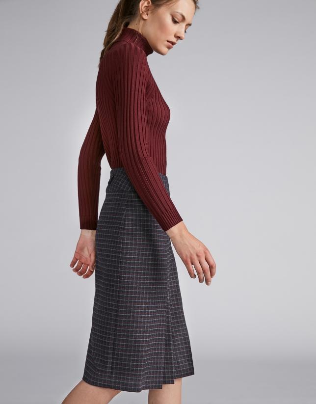 Marengo gray checked pencil skirt