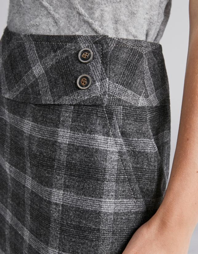 Gray glen plaid pencil skirt