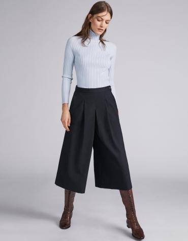 Jupe-culotte bleu marine