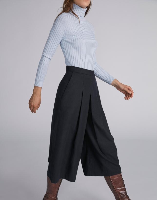 Falda pantalón azul marino