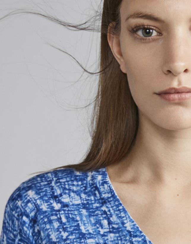 Camiseta punto color azul fantasía