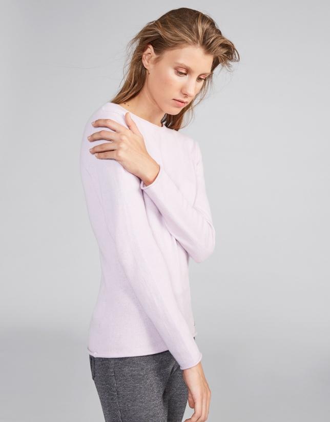 Jersey cuello redondo rosa