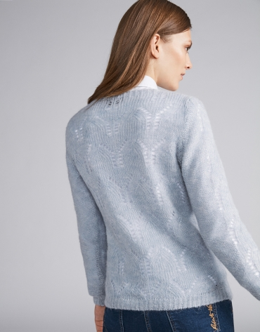 Light blue openwork sweater