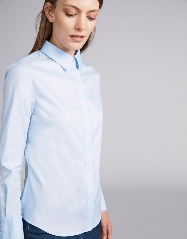 Camisa masculina celeste