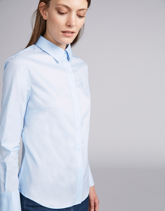 Light blue men's shirt