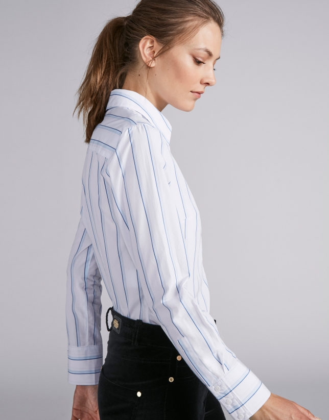 Striped men's shirt