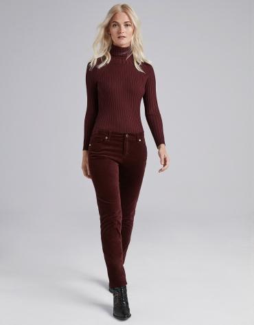 Burgundy plain corduroy pants