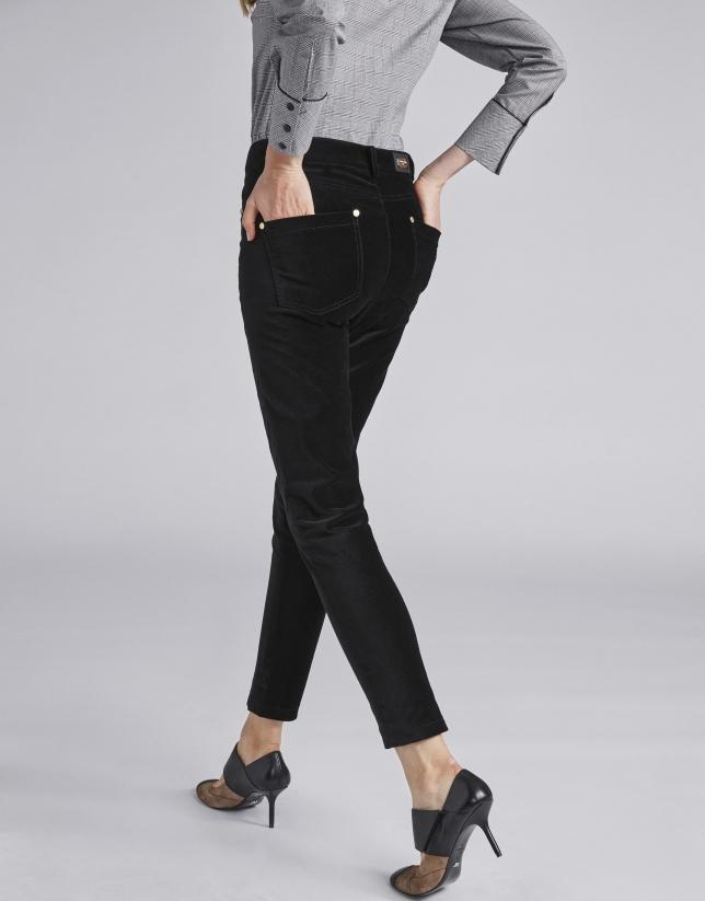 Pantalon en velours noir