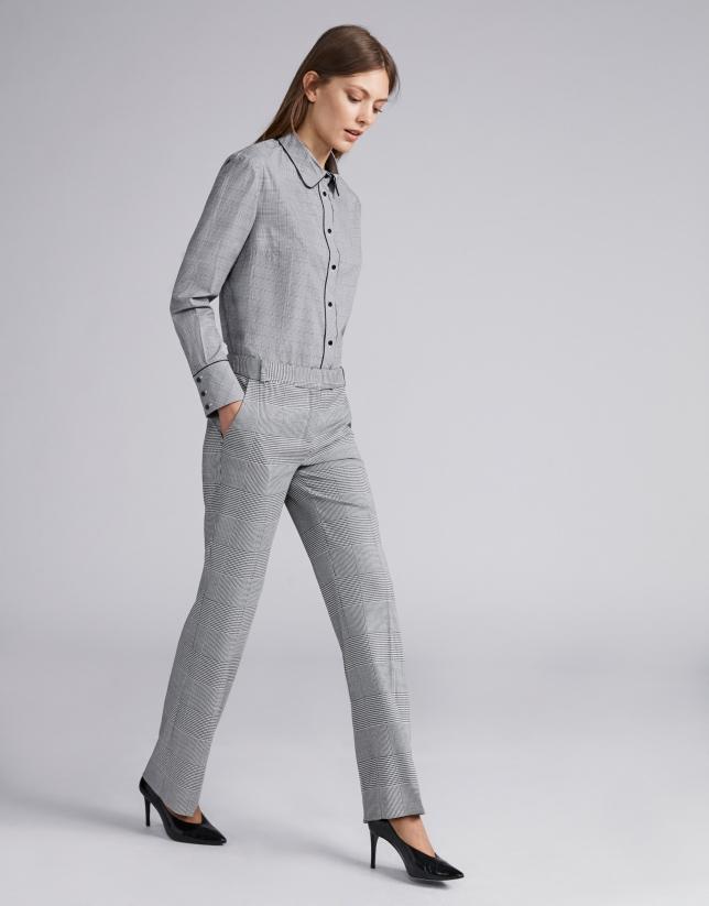 Gray glen plaid pants