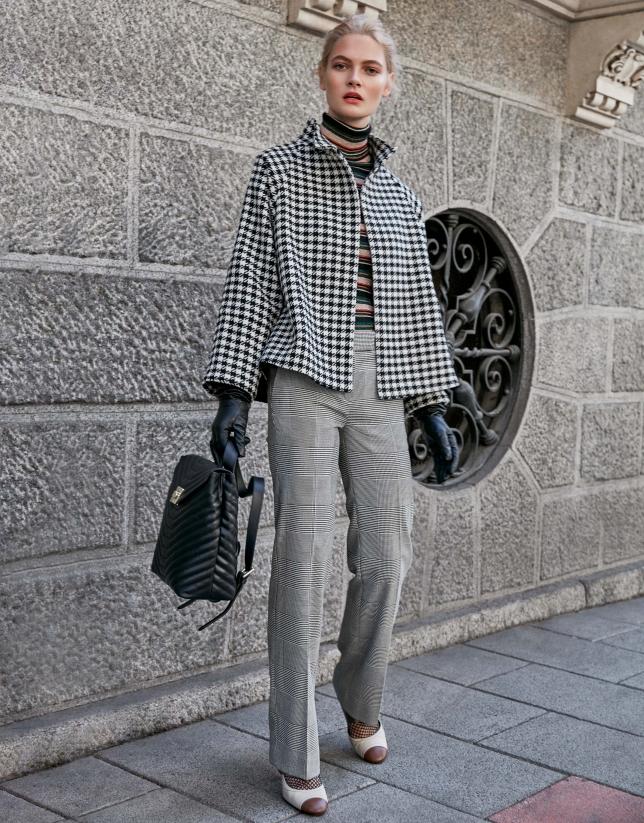 Pantalón príncipe de gales gris