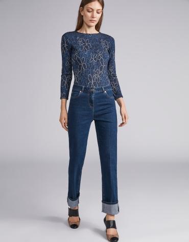 Dark blue straight jeans