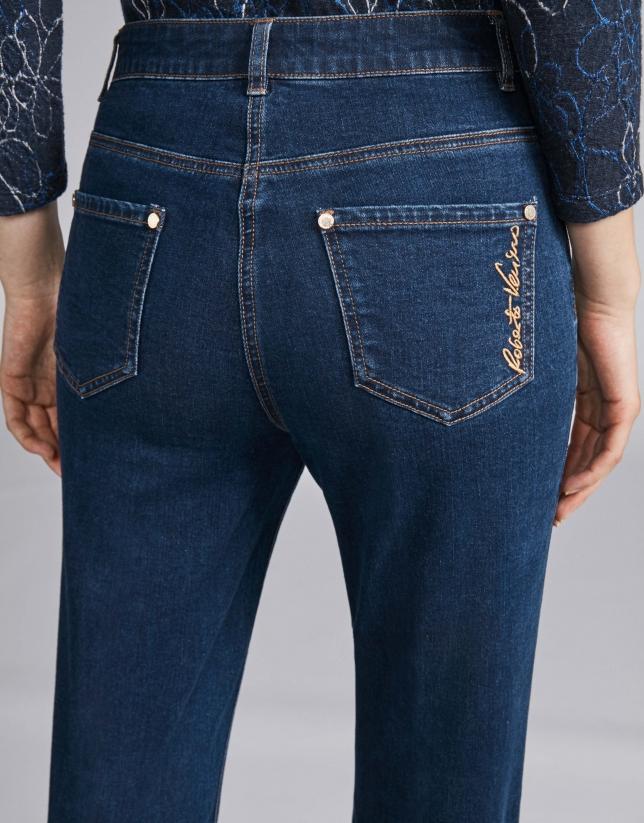Pantalón vaquero azul oscuro recto