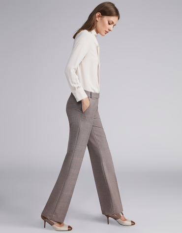 Brown glen plaid pants
