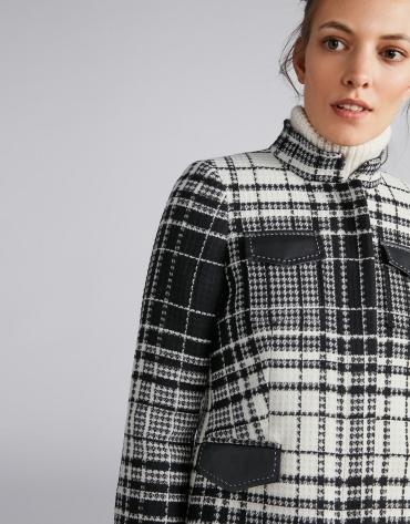 Chaqueta de lana a cuadros