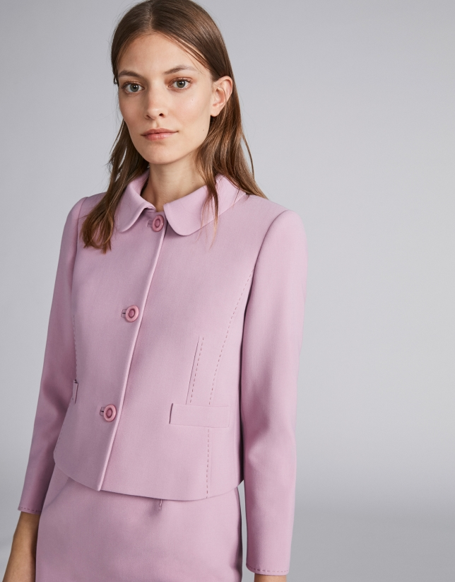 Pink short fitted jacket
