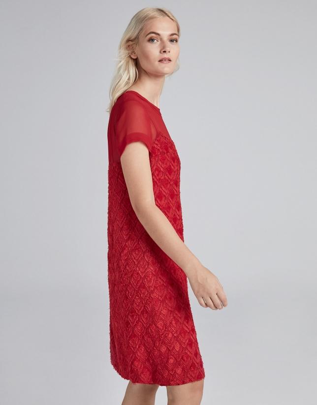 Vestido midi fil coupé amapola