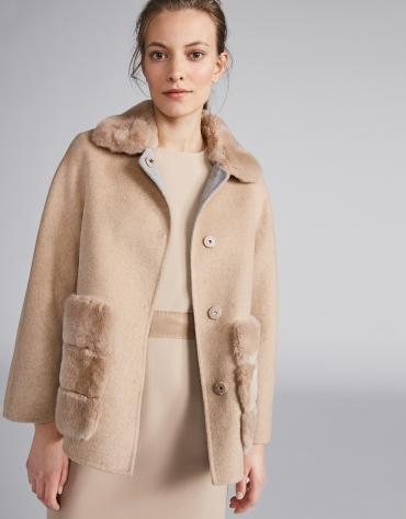 Beige, double-faced jacket