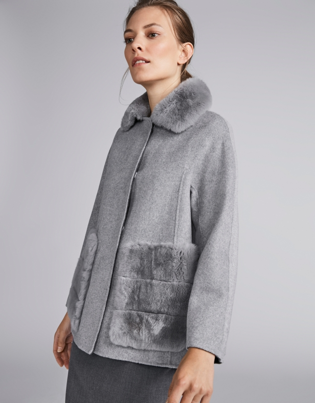 Grey, double-faced jacket