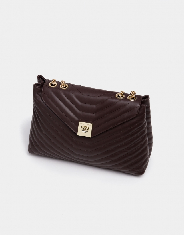 Brown leather Ginger shoulder bag