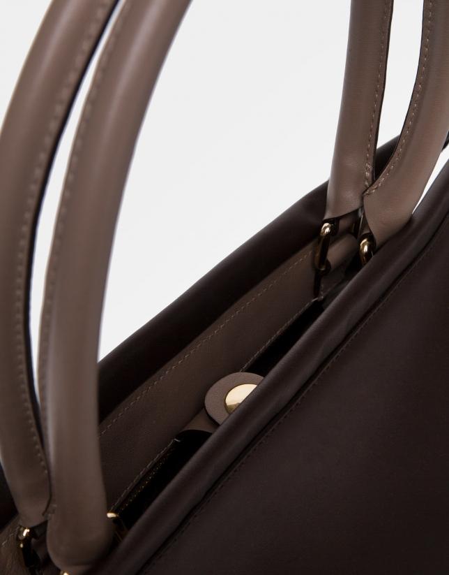 Brown Journal shoulder bag