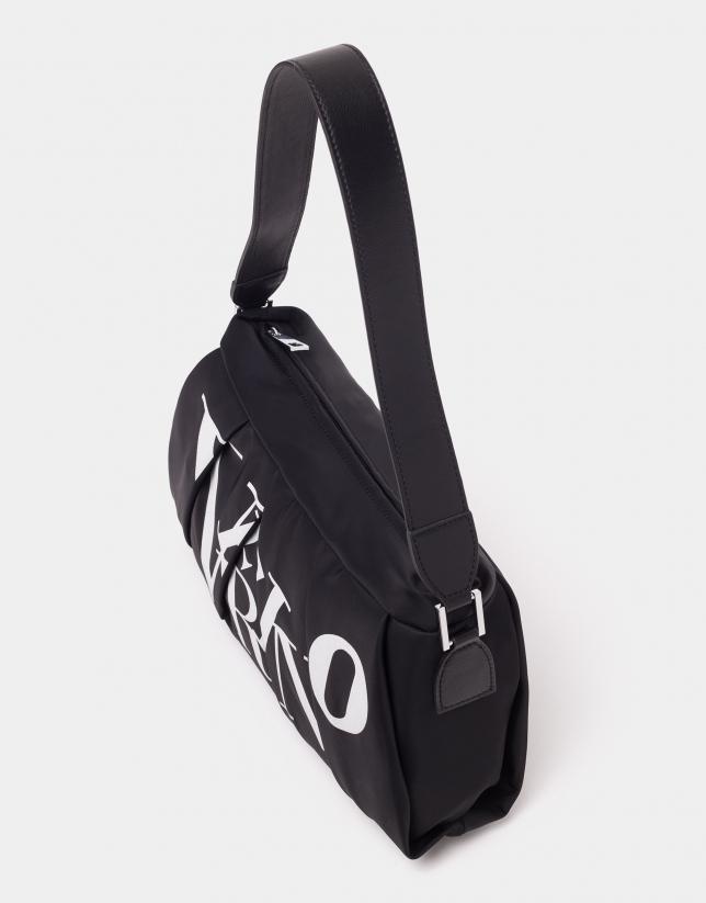 Bolso de hombro Olivina nylon negro
