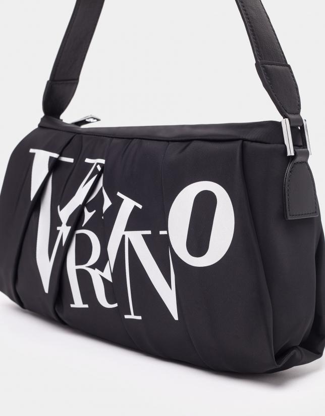 Black nylon Olivina shoulder bag