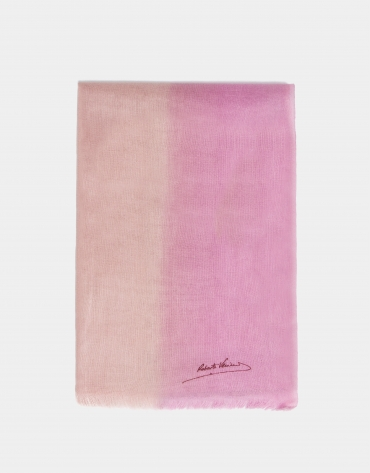 Pink degradé wool foulard