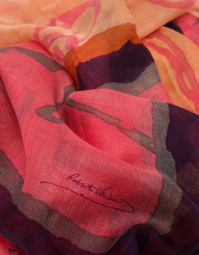 Red print foulard