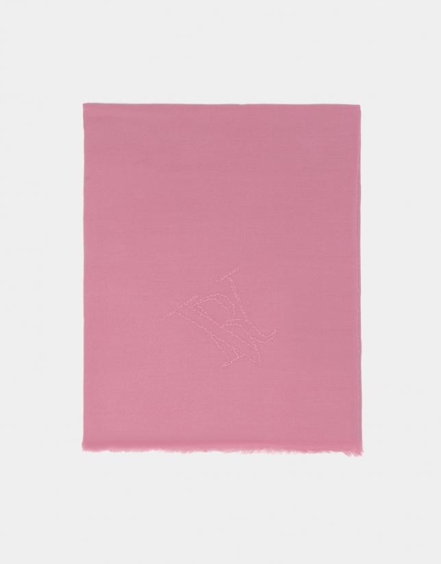 Pink wool foulard